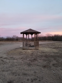 Gazebo in the middle of nowhere
