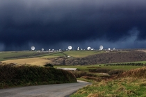 GCHQ satellite ground station in Cornwall UK