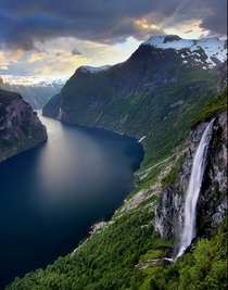 Geiranger Fjord Norway  by Ola Moen