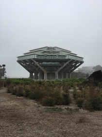 Geisel Library aka Inception snow fortress at UCSD