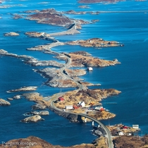 Geitya a little village on the Atlantic Ocean Road in Norway