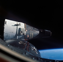 Gemini  in orbit photographed from Gemini  in