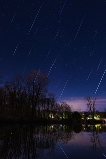 Geminid meteor shower as seen from my back yard