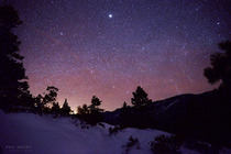 Geminid meteor shower shot from Lake Tahoe this morning - looking East this time
