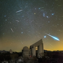 Geminid Meteors over Xinglong Observatory