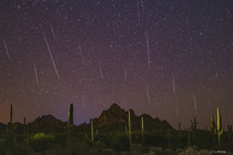 Geminids Meteor Shower from Southern Arizona