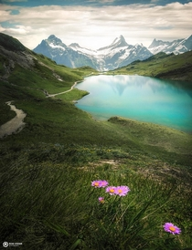 Gems of the alps Bachalpsee in the Switzerland