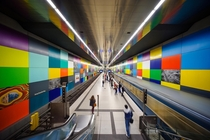 Georg-Brauchle-Ring Metro Station Munich  By Gianluca Lastoria