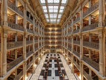 George Peabody Library established  primary research Library of The Johns Hopkins University
