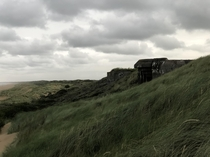 German bunkers dating from WW on the Dutch coast of Scheveningen