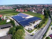 German supermarket car park covered in solar panels
