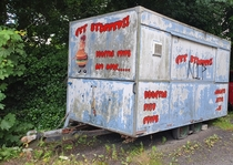 Get Stuffed Abandoned mobile chip shop Larne Northern Ireland