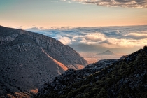 Getting Above the Morning Clouds Guadalupe Mountain NP TX