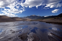 Getting my feet wet at The Great Sand Dunes National Park in Colorado