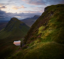 Getting to the top of the Quiraing just as the sunrise started to appear Quiraing Isle of Skye Scotland