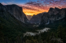 Getting up early to see Yosemite National Park can be worth the effort There is a quiet where the only sound is the thunderous waterfalls off in the distance And then the glow begins and the stars fade signaling a new day  Photo by Darvin Atkeson