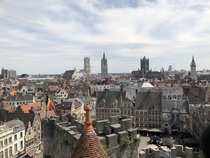 Ghent Brussels as seen from atop Gravensteen castle