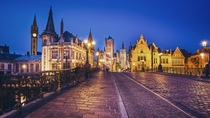 Ghent in the Blue Hour Belgium