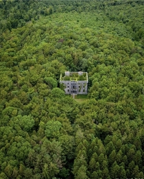 Ghostly abandoned manor in County Mayo Ireland
