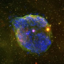 Giant Bubble in Wolf-Rayet star HD