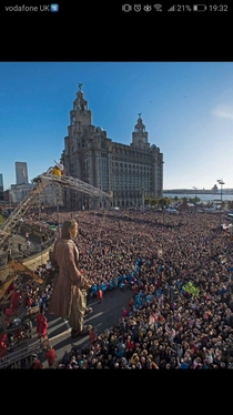 Giant invading Liverpool today
