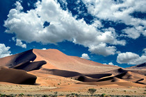 Giant sand dunes  Sossusvlei in Namibia Southern Africa