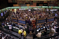 Giant view of the NYMEX trading floor in NYC approx  -