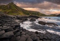 Giants Causeway Northern Ireland The  hexagonal columns are remnants of an ancient volcanic eruption  photo by Noel Casaje