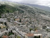 Gjirokastr Albania as viewed from its castle