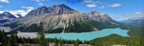 Glacial Lake Panorama - Banff National Park Alberta Canada