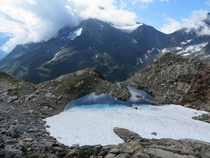 Glacial puddle near the Sustenpass Switzerland