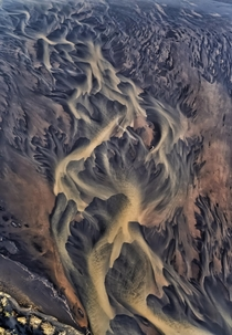 Glacial river patterns of Iceland