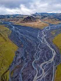 Glacial rivers and mountains in Iceland  IG dipanjan