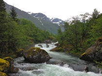 Glacial runoff near Folgefonna Norway