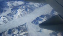 Glacial scenery from  ft above Baffin Island Canada