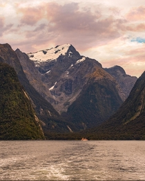 Glacier at Milford Sound New Zealand