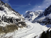 Glacier in Chamonix France