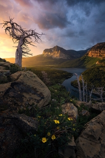 Glacier National Park always has the most insane light shows OC  ross_schram