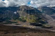 Glacier National Park Montana - Scars from the  Wildfire at Dawson Pass
