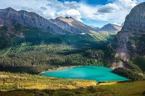 Glacier National Park should also be cheating Heres the unreal color of Grinnell Lake