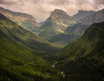 Glacier National Park where you can get views like this a couple feet from your car
