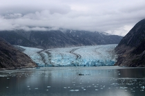 Glacier on the Alaskan coast