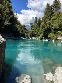Glacier Runoff in New Zealand looks like light blue Gatorade to me South Island New Zealand