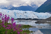 Glaciers may be retreating but at least some leave beauty behind as they go Matanuska Glacier AK