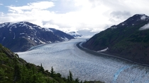 Glad I made the trip out to Hyder AK last summer Salmon Glacier