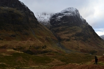 Glen Coe in the Scottish Highlands last week