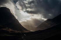Glencoe Scotland After a long day of filming in the rain and wind the sun came out as we were packing up