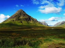 Glencoe Scotland on a nice day