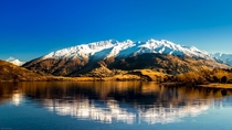 Glendhu Bay with the Buchanan Peaks in the backdrop Lake Wanaka New Zealand