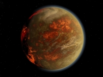 Gliese  b The planet of burning ice